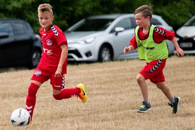 Indvielsen var i gang det meste af dagen, og der blev blandt andet spillet fodbold.
