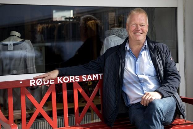 Michael Mansdotter har været formand for Røde Kors Aalborg siden juni. Foto: Laura Guldhammer