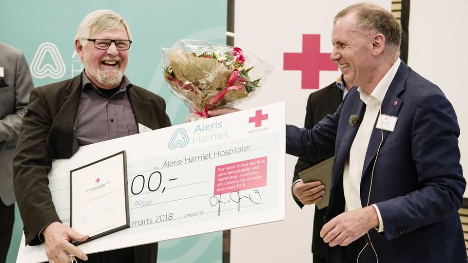 Claus Carstens reagerede hurtigt, og det reddede kollegaen Asger Nissen fra at forbløde og dø. Foto: Scanpix/Jakob Dall/røde Kors
