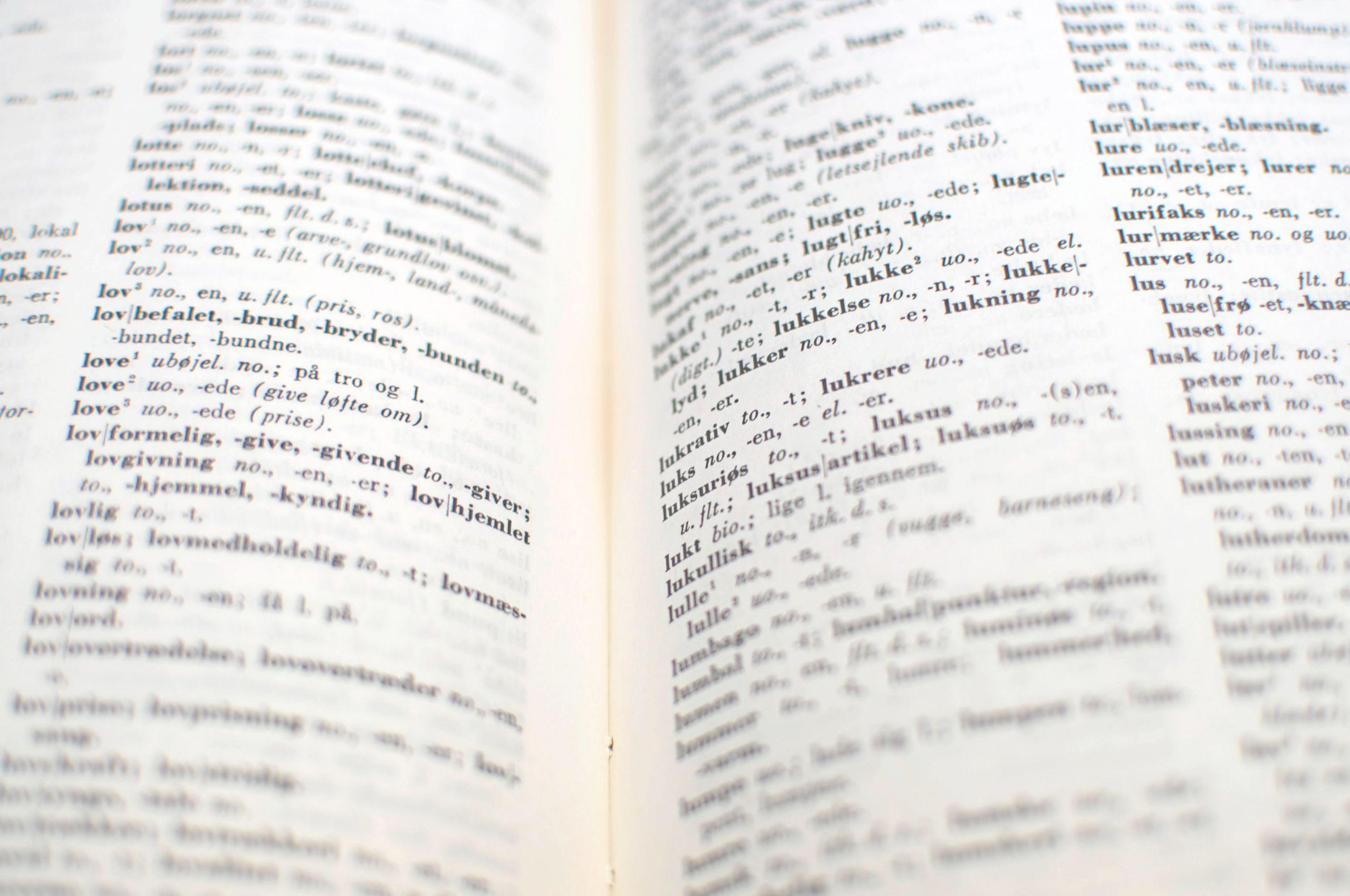 vendelbomål ordbog