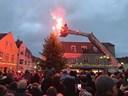 Julemanden måtte vente: Brandvæsnet kørte til brand