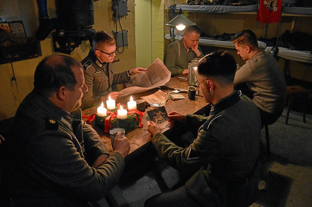 8. december åbner Bunkermuseet ekstraordinært, hvor publikum kan få indblik i de soldaters hverdag under 2. Verdenskrig. Foto: Kystmuseet