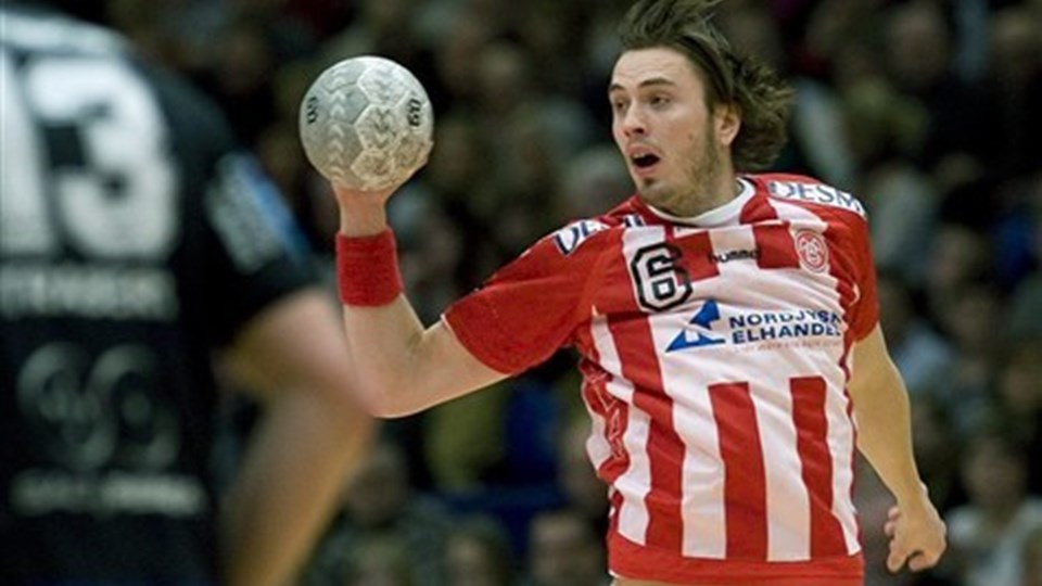 Jonas Larholm, kommer ikke i aktion i pokalkampen mod Hasle KFUM:  Foto: Grete Dahl