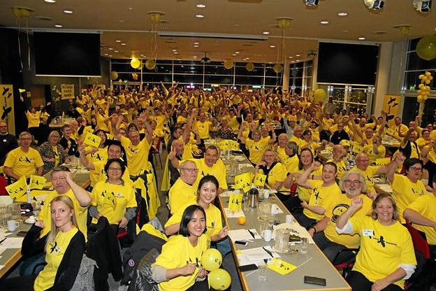 330 Begejstrede Natteravne til Landsmøde kunne fejre 20 på gaden i den gode sags tjeneste. Foto: Flemming Dahl Jensen Flemming Dahl Jensen