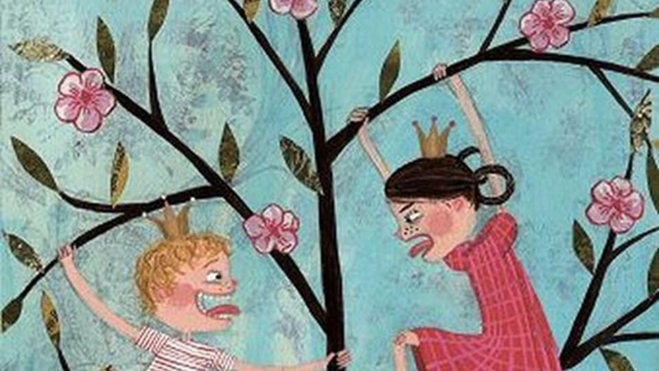 En skøn bog, der får masser af smil frem. Tillykke til forældre med børn i alderen fem til ni år. Forside af bogen.