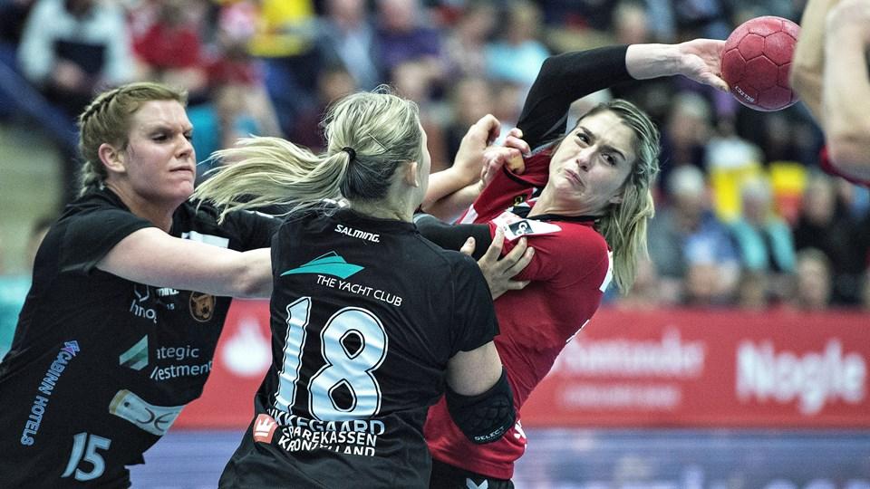København Håndbold - her i aktion i pokalfinalen mod Team Esbjerg - vandt lørdag i EHF Cup. Foto: Scanpix/Henning Bagger/arkiv