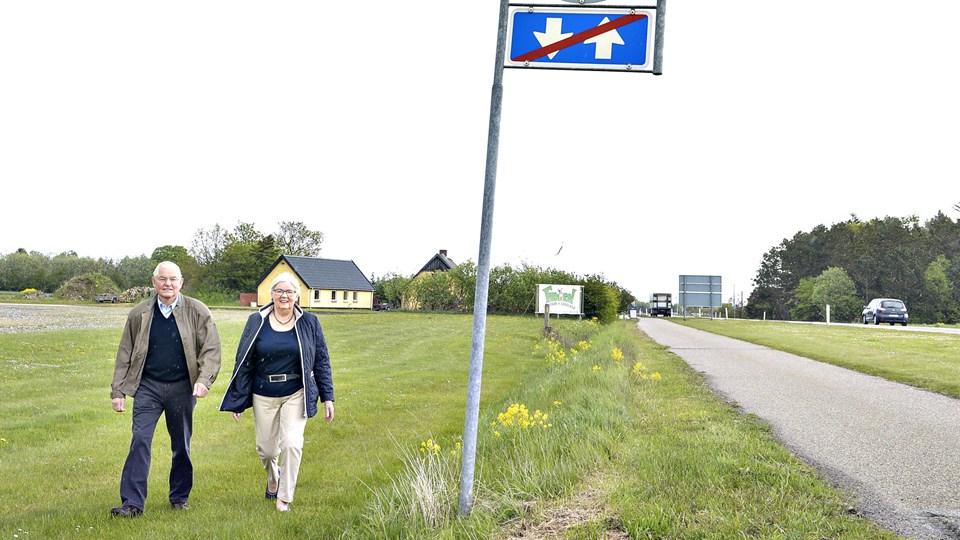 Anni og Henning Bering fik i 2013 den første henvendelse fra stor byggemarked-kæde om at erhverve en del af deres grund ved Ålborgvej til en ny forretning. Nu kigger kæden i stedet på en grund ved siden af. Arkivfoto: Bent Bach