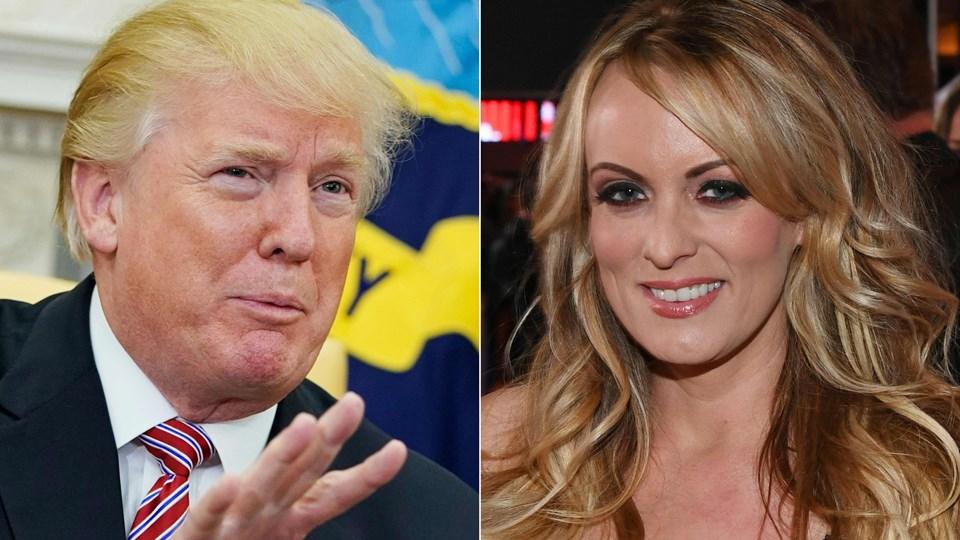 Ifølge pornostjernen Stormy Daniels er hun blevet truet til tavshed om et tidligere seksuelt samvær med Donald Trump. Arkivfoto: Scanpix/Mandel Ngan, Ethan Miller