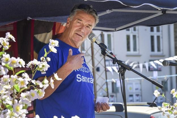 Jørgen Andersen opfordrede til at komme med gode ideer til aktiviteter på torvet.  Foto: Michael Koch