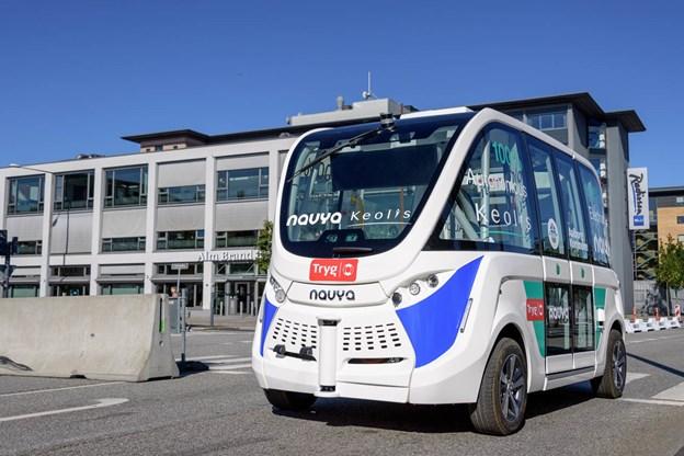 I sommeren 2017 blev der også budt på ture med en selvkørende bus i Aalborg. Dengang skete det i forbindelse med landsstævnet. Arkivfoto: Nicolas Cho Meier