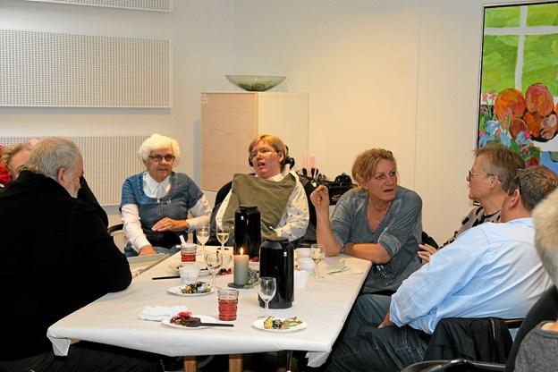 Der var mange på besøg ved åbent hus arrangementet. Foto: Flemming Dahl Jensen