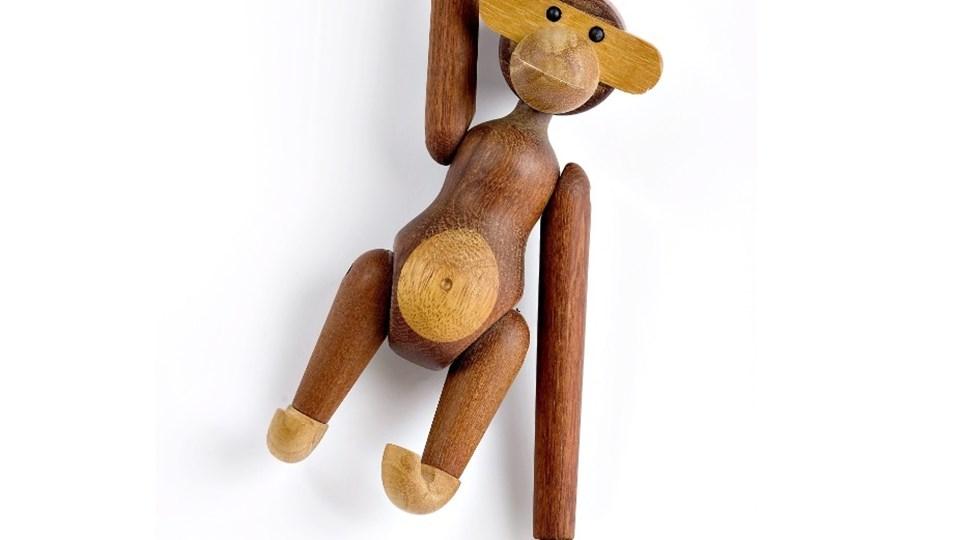 Det var en abefigur som denne, en Kay Bojesen abe, der blev stjålet. Arkivfoto: Torben Hansen