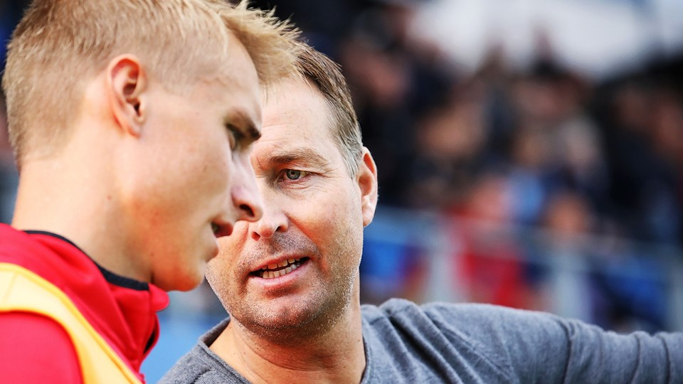 Træner Kasper Hjulmand ærgrer sig på dansk fodbolds vegne over de strandede forhandlinger mellem landsholdsspillerne og DBU. Foto: Carsten Bundgaard/Ritzau Scanpix