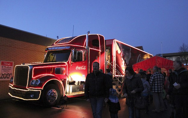 Coca-Colas julelastbil kommer til Fjerritslev tirsdag 4. december. Arkivfoto