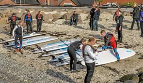 Ny aktivitet i Løgstør Roklub kom i vandet