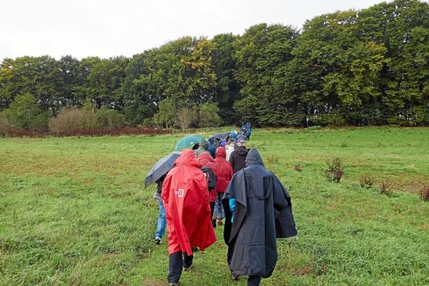 Gå en Tur med Kræftens Bekæmpelse blev afviklet i en skøn blanding af sol, blæst og regn.   Foto: Niels Helver