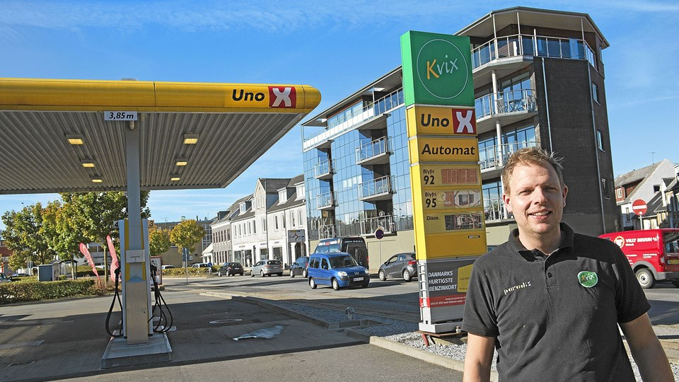 Bonus Kvix bliver snart navnet på Claus Sørensens tankstation på havnen, når Uno-X DK opdeler kæden. Foto: Ole Iversen