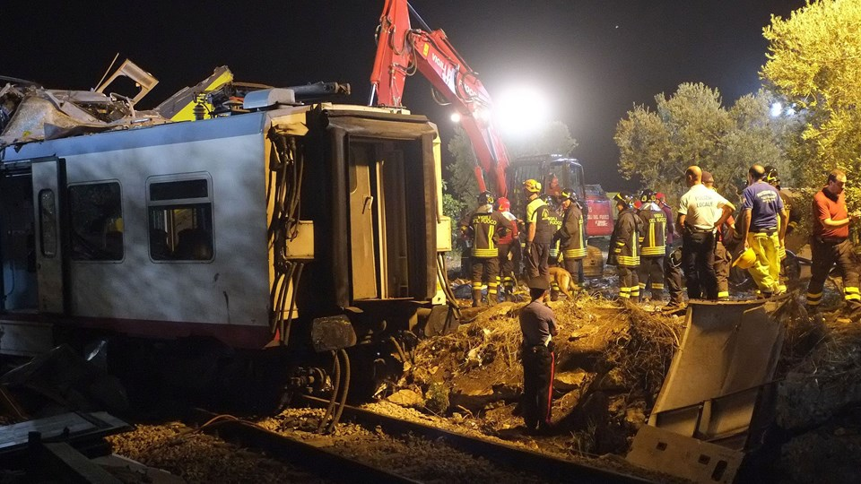 ITALY-TRAIN-CRASH Foto: Scanpix/Mario Laporta