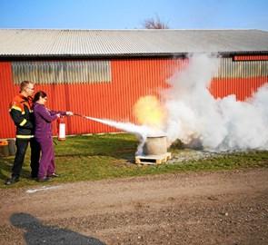 Brandbekæmpelseskursus i Flauenskjold
