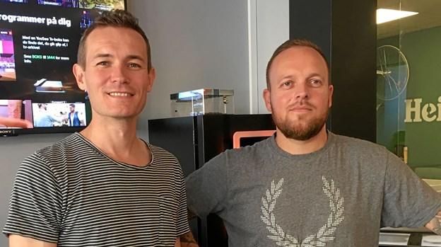 Jonas Tversted (th) og lillebror Lars Tversted har knoklet på med nedbrydning og opbygning gennem de seneste fire måneder.