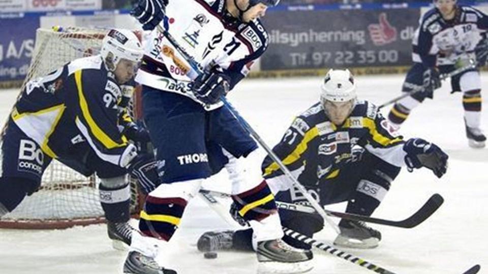 Ilya Dubkov scorede for White Hawks, men det var ikke nok i Herlev.