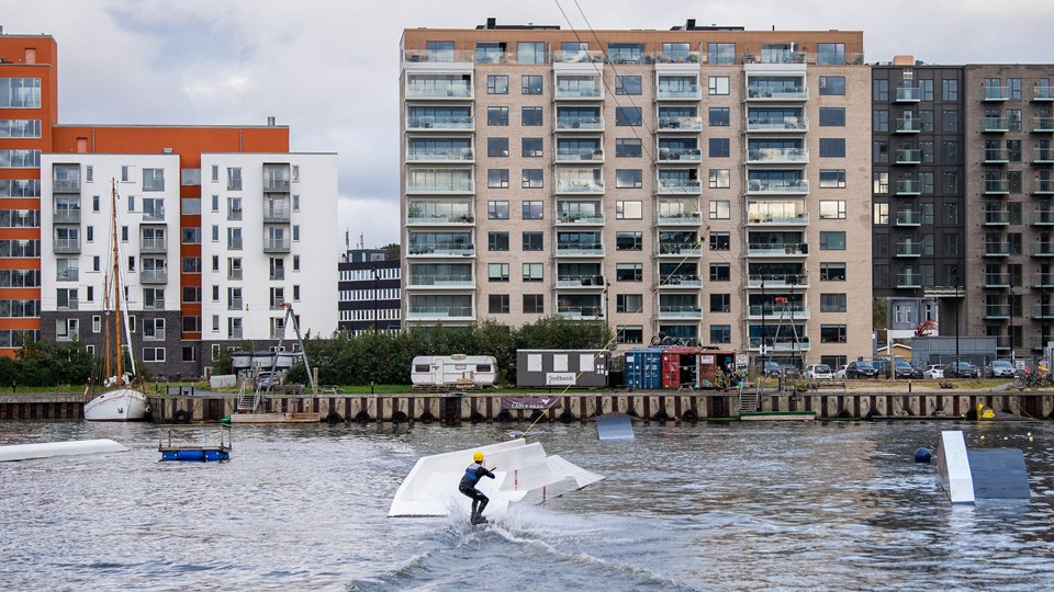 Forvandlingen af Østre Havn var en af de ting i Aalborg, som gæsterne så nærmere på. Foto: Henrik Bo