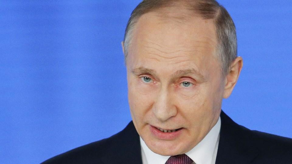 Præsident Vladimir Putin siger, at Rusland har testet en række af nye atomvåben, som ikke vil kunne stoppes af fjendtlige raketskjold. Foto: AP Photo/Alexander Zemlianichenko