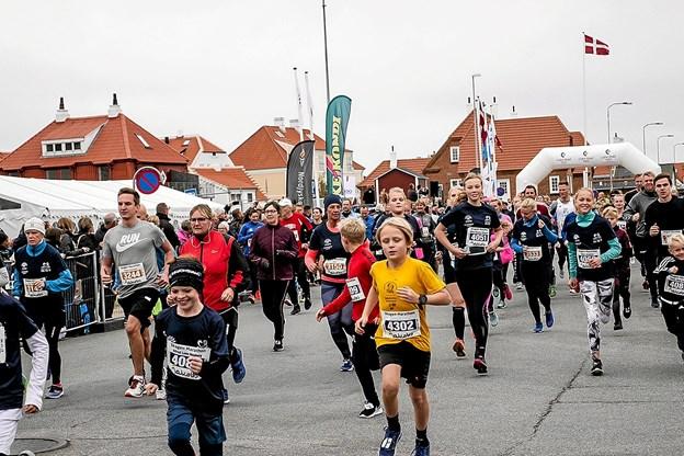 2411 friske løbere var fordelt på de forskellige ruter.Foto: Peter Jørgensen