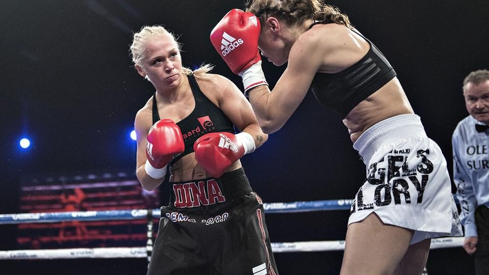 Dina Thorslund er endnu ubesejret som professionel bokser. På lørdag møder hun mexicanske Yessica Monuz i Struer. Foto: Henning Bagger / arkiv/Ritzau Scanpix