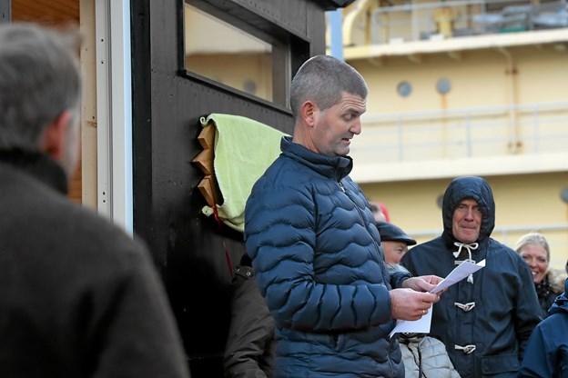Sælhundenes formand, Steen Lund Sømod stod for den officielle indvielse. Foto: Allan Mortensen