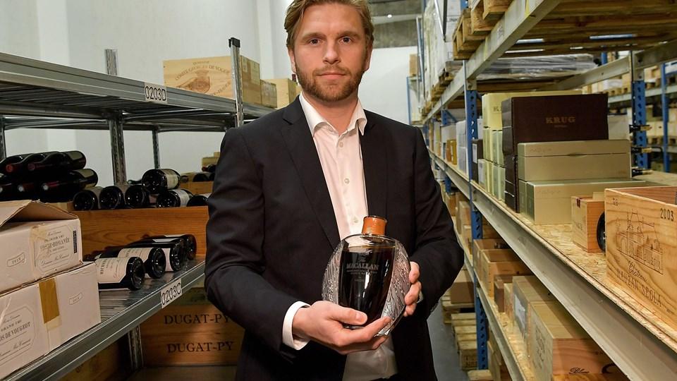 Anders Børsen, direktør, Rare Wine Invest, har tidligere solgt seks flasker eksklusiv MacAllan Lalique whisky for fire millioner kroner. Foto: Arkiv/Jesper Thomasen