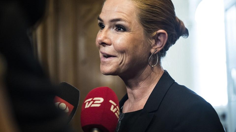 Støjberg: Asylløgn skal have stor konsekvens Inger Støjberg i samråd. Foto: Scanpix/Ida Marie Odgaard/scanpix/