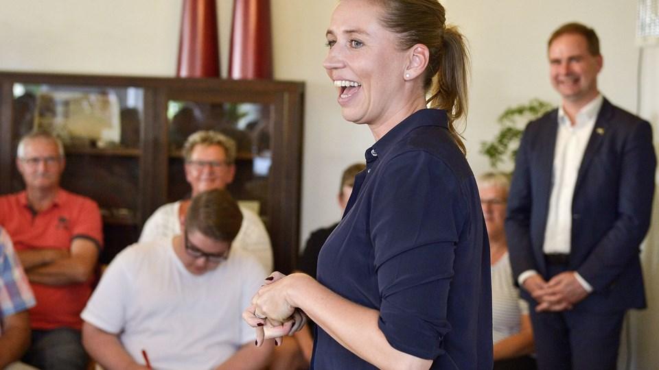 Mette Frederiksen (S) har grund til at smile over den nye måling. Foto: Claus Søndberg