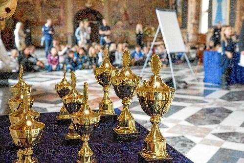 Billedet stammer fra sidste års finale på Frederiksborg Slot. På torsdag kendes vindere af dette års udgave af Historiedysten. Foto: Mew/Det Nationalhistoriske Museum