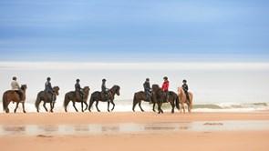 På hesteryg i vinterligt Fårup Sommerland
