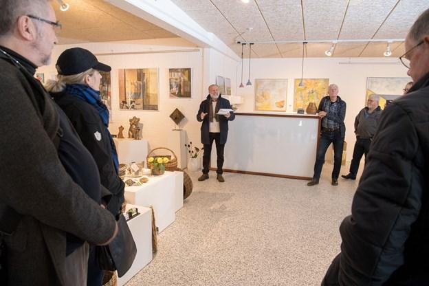 Jørgen Bing holdt årets sidste ferniseringstale på Mygdalhus. Foto: Henrik Louis