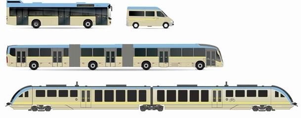 NT: Busser og tog får nye farver