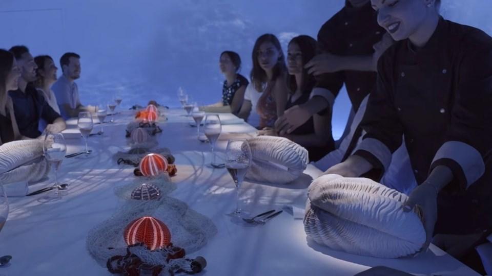 Så er der serveret hos superdyre Sublimotion på Ibiza. Foto: Sublimotion