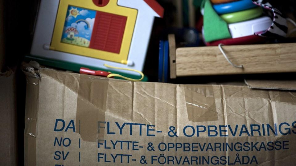 Du kommer næppe uden om at skulle lægge nogle penge, når du skal flytte - men der er flere steder, du kan spare. (Arkivfoto) Jens Nørgaard Larsen/Ritzau Scanpix