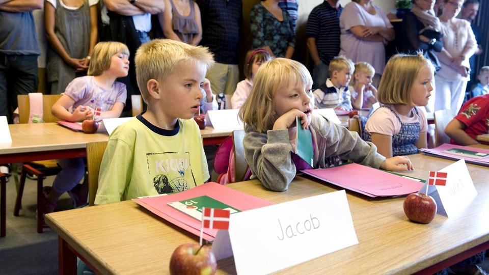 Første skoledag er en stor dag. 478 børn skal opleve det til august i år.Arkivfoto: Henrik Louis