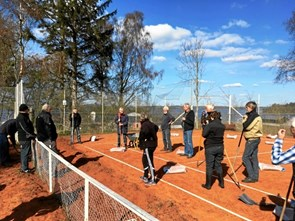 Tennissæsonen åbnet i Mariager