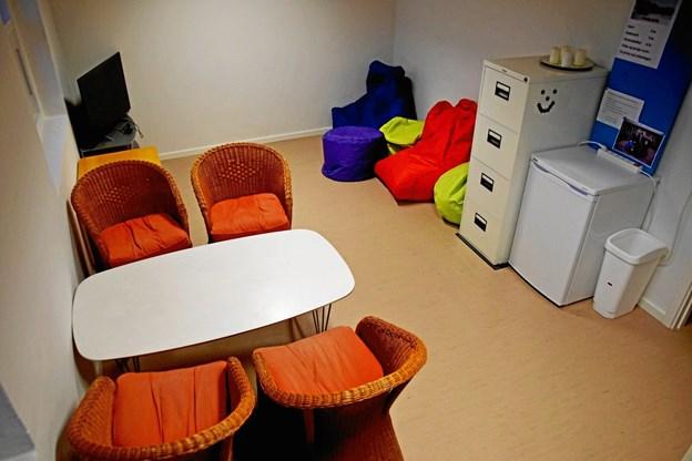 Ungdomsklubbens tomme lokaler venter kun på at blive brugt igen. FOTO: Helge Jensen