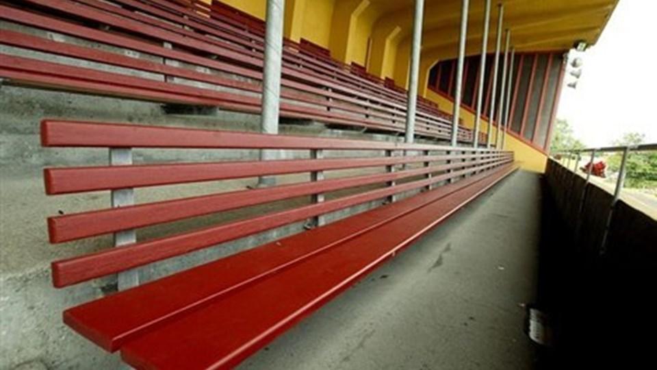 Snart er det slut på Hjørring Stadion. Når det nye stadion er klar, bliver det gamle efter planen revet ned.  Foto: Bente Poder
