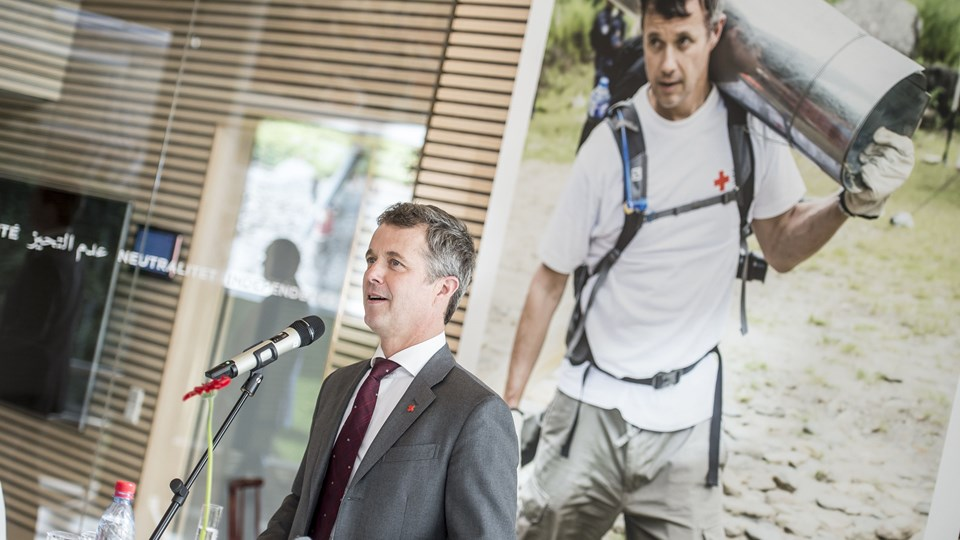 Kronprins Frederik holder tale i Røde Kors' Frivillighus i København i forbindelse med, at han indtræder som protektor for Røde Kors i Danmark. Kronprinsen overtager protektionen fra sin far, prins Henrik. Foto: Mads Claus Rasmussen/Ritzau Scanpix