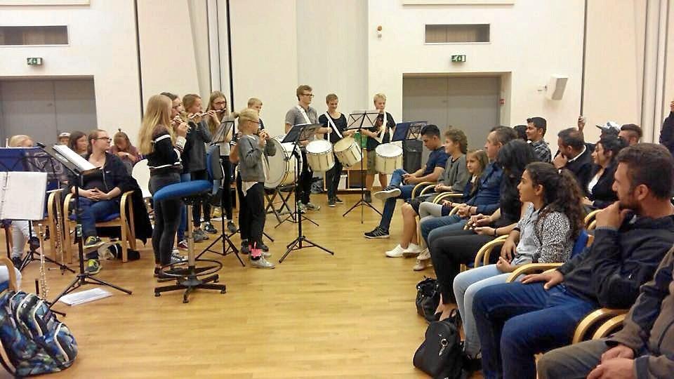 Den 28. september holdt Sæbygardens musikalsk koncertprøve - og publikum strømmede til.  Privatfoto.