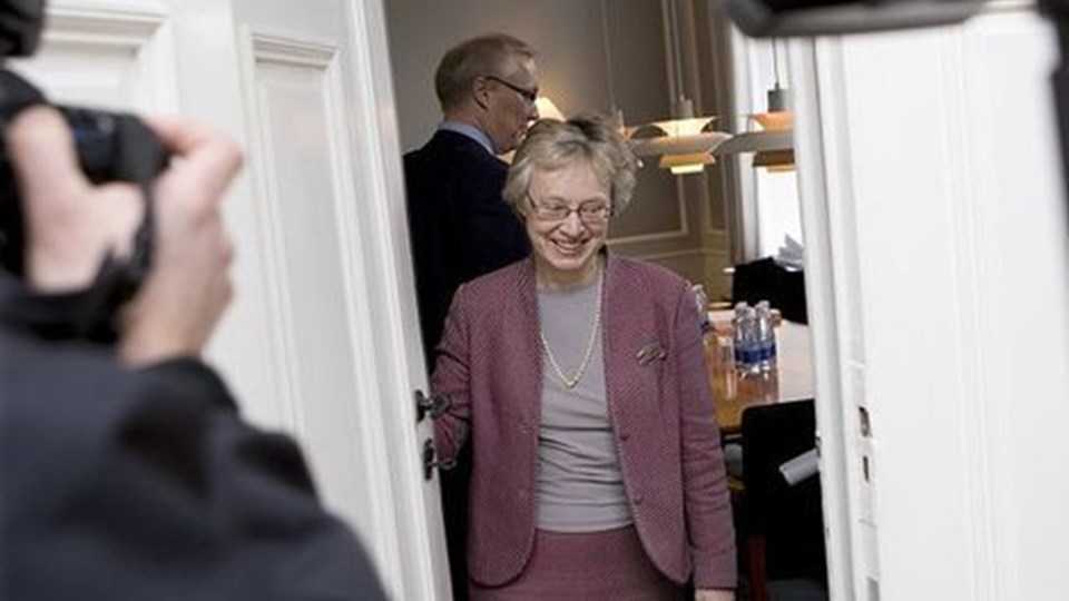 Mens det lykkedes forligsmand Mette Christensen at blive enig med BUPLs repræsentanter i forligsinstitutionen, måtte hun opgive at mægle for Sundhedskartellet og FOA. Foto: Rune Evensen/Scanpix