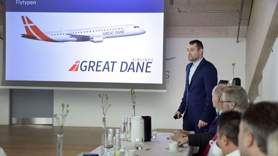Thomas Hugo Møller, der er direktør for Great Dane Airlines, fortæller, at billetsalget går godt. Arkivfoto: Bente Poder