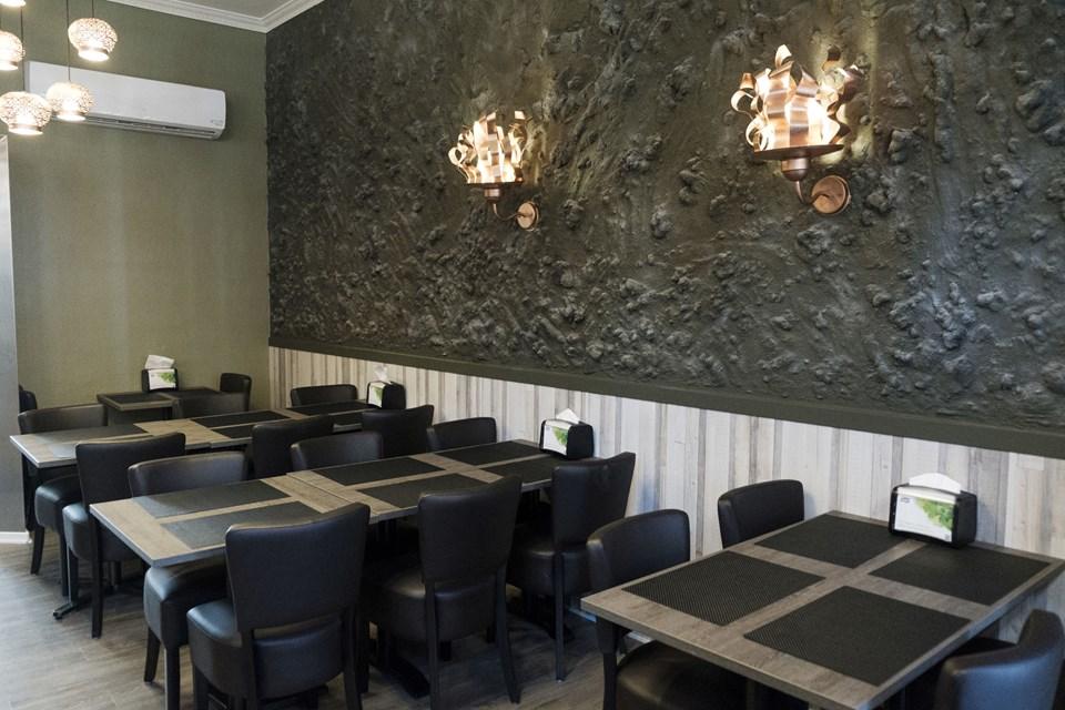 Der er plads til 40 i familierestauranten. Foto: Lasse Sand