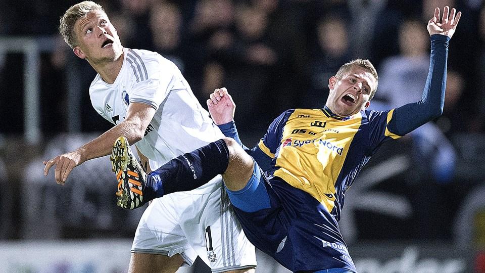 Andreas Cornelius var en målscorerne for FC København onsdag aften. Arkivfoto: Lars Pauli