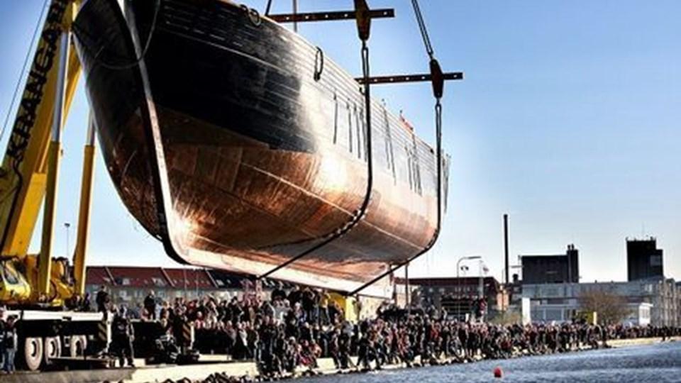 Træskibet LOA skød planer om et permanent værft ved Limfjorden i gang, men de må indtil videre sejle en omvej. Arkivfoto: Michael Koch